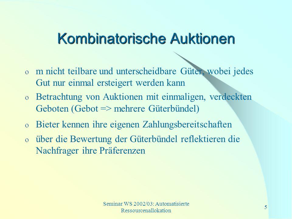 Kombinatorische Auktionen