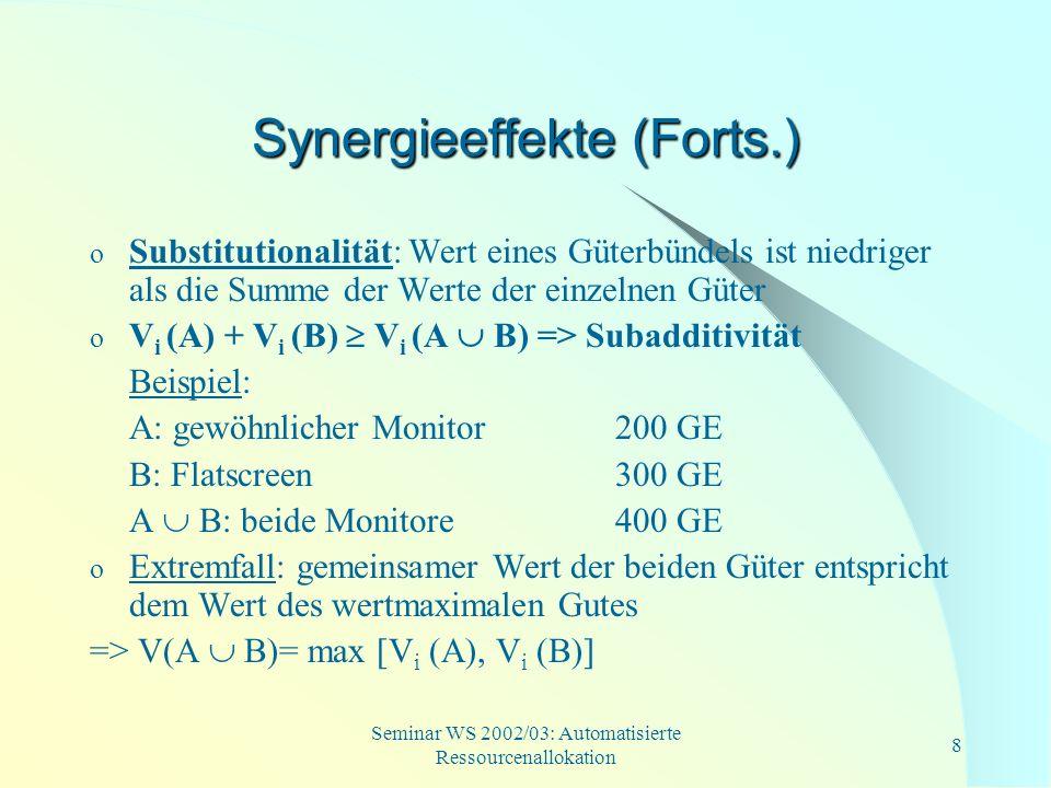 Synergieeffekte (Forts.)
