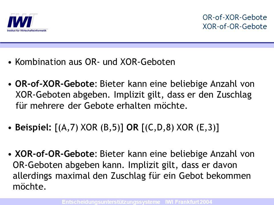 OR-of-XOR-Gebote XOR-of-OR-Gebote
