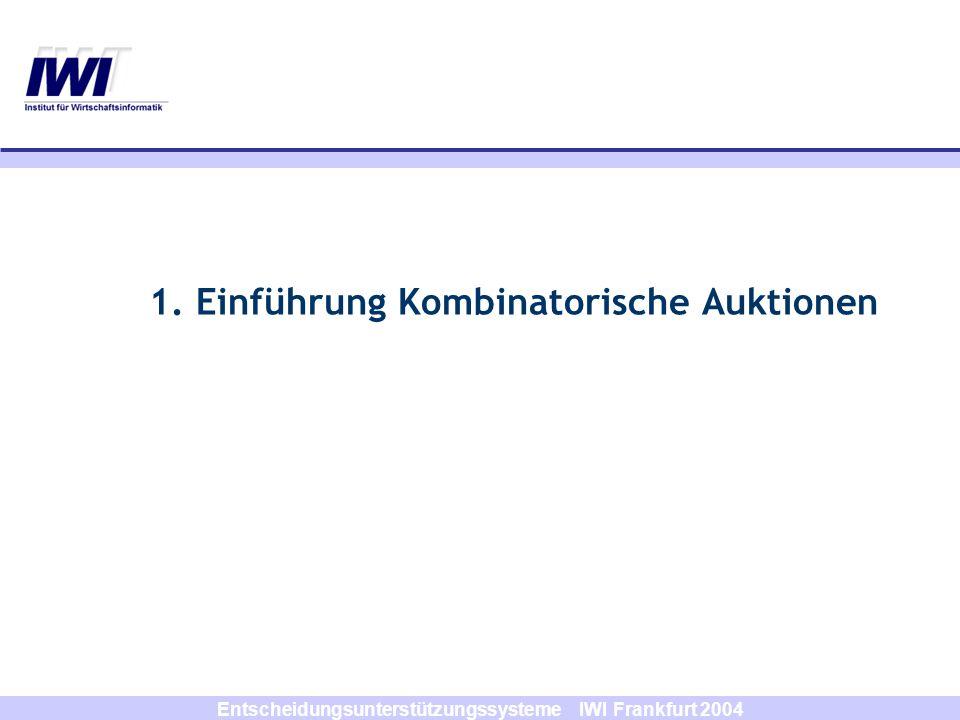 1. Einführung Kombinatorische Auktionen