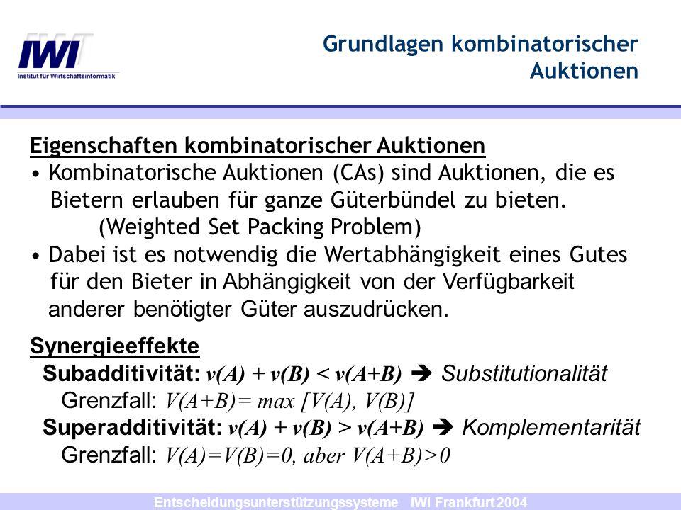 Grundlagen kombinatorischer Auktionen