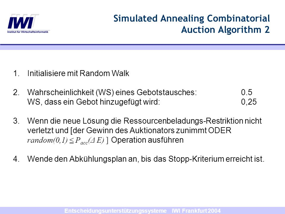 Simulated Annealing Combinatorial Auction Algorithm 2