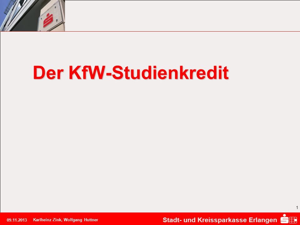 Der KfW-Studienkredit