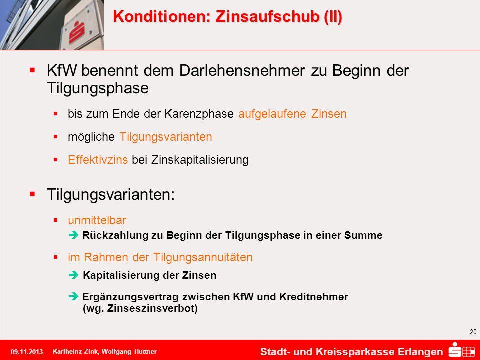 Konditionen: Zinsaufschub (II)