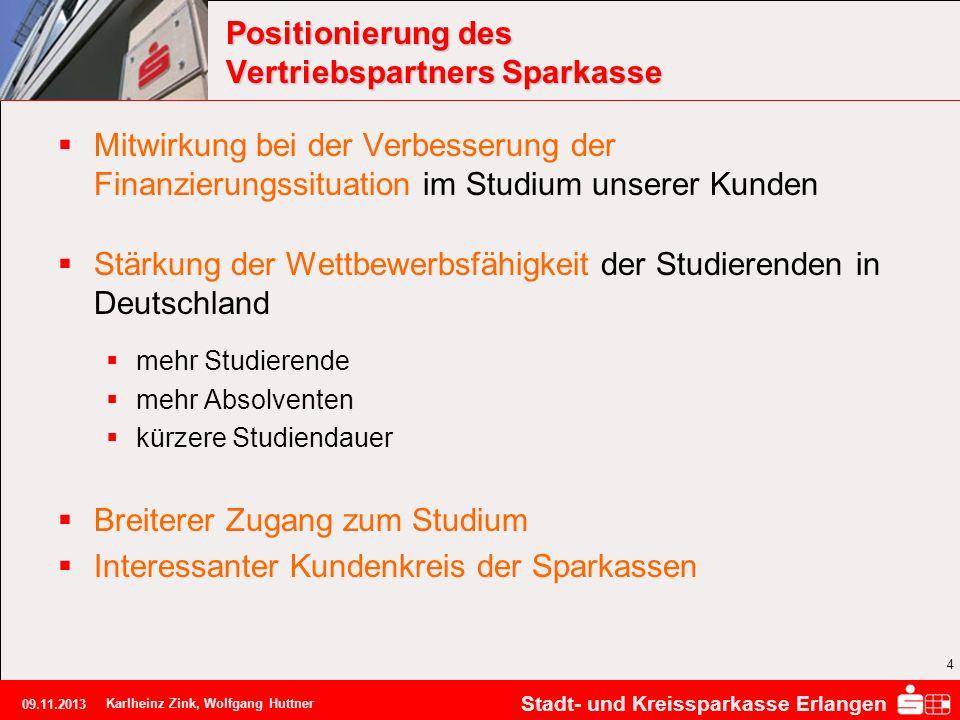 Positionierung des Vertriebspartners Sparkasse