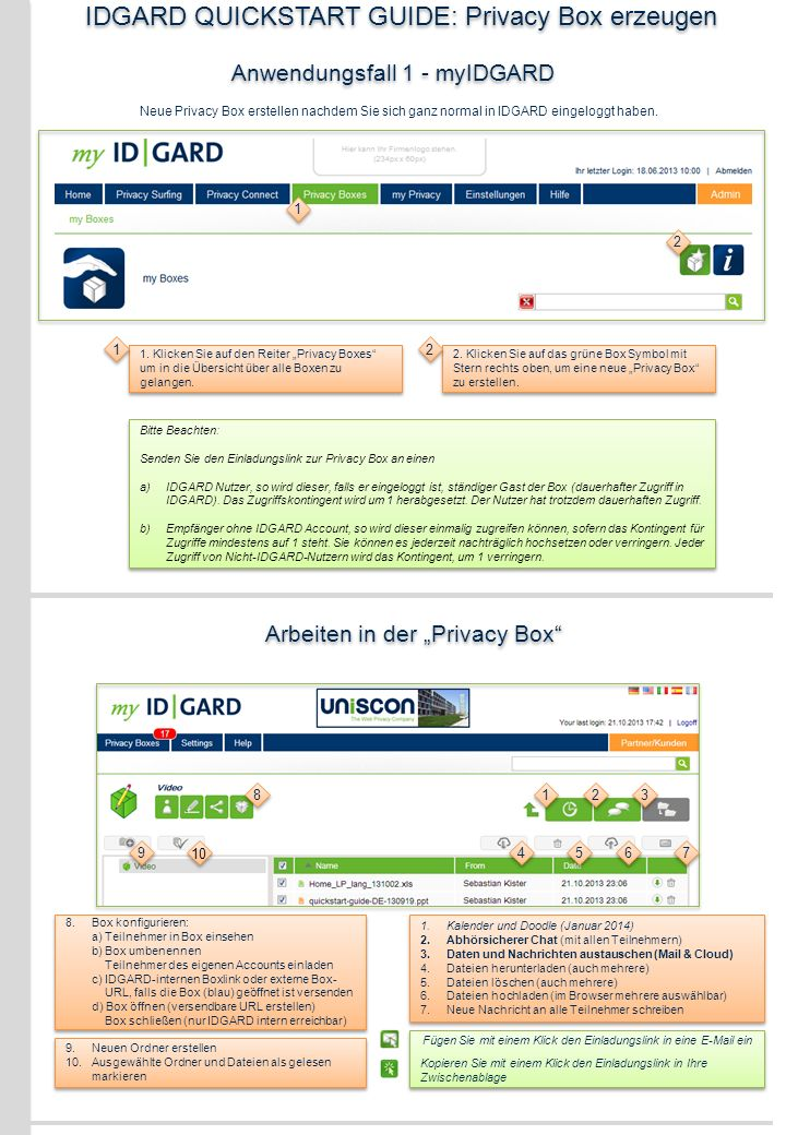 IDGARD QUICKSTART GUIDE: Privacy Box erzeugen