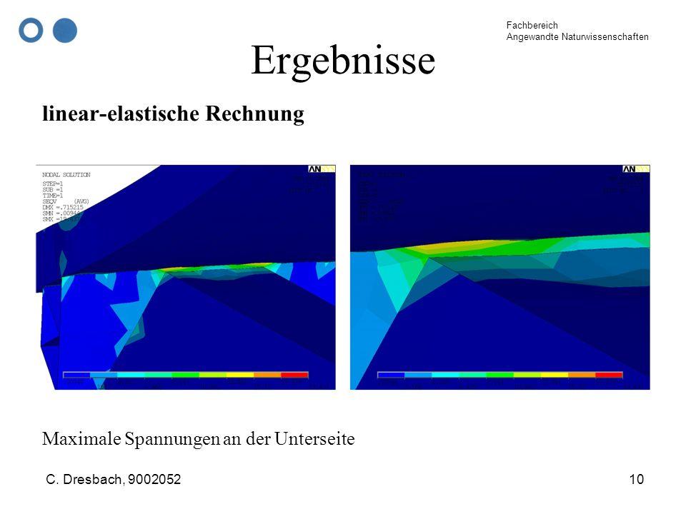 Ergebnisse linear-elastische Rechnung
