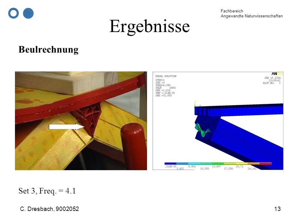 Ergebnisse Beulrechnung Set 3, Freq. = 4.1 C. Dresbach, 9002052