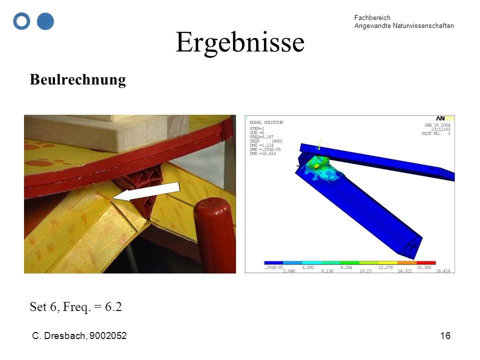 Ergebnisse Beulrechnung Set 6, Freq. = 6.2 C. Dresbach, 9002052