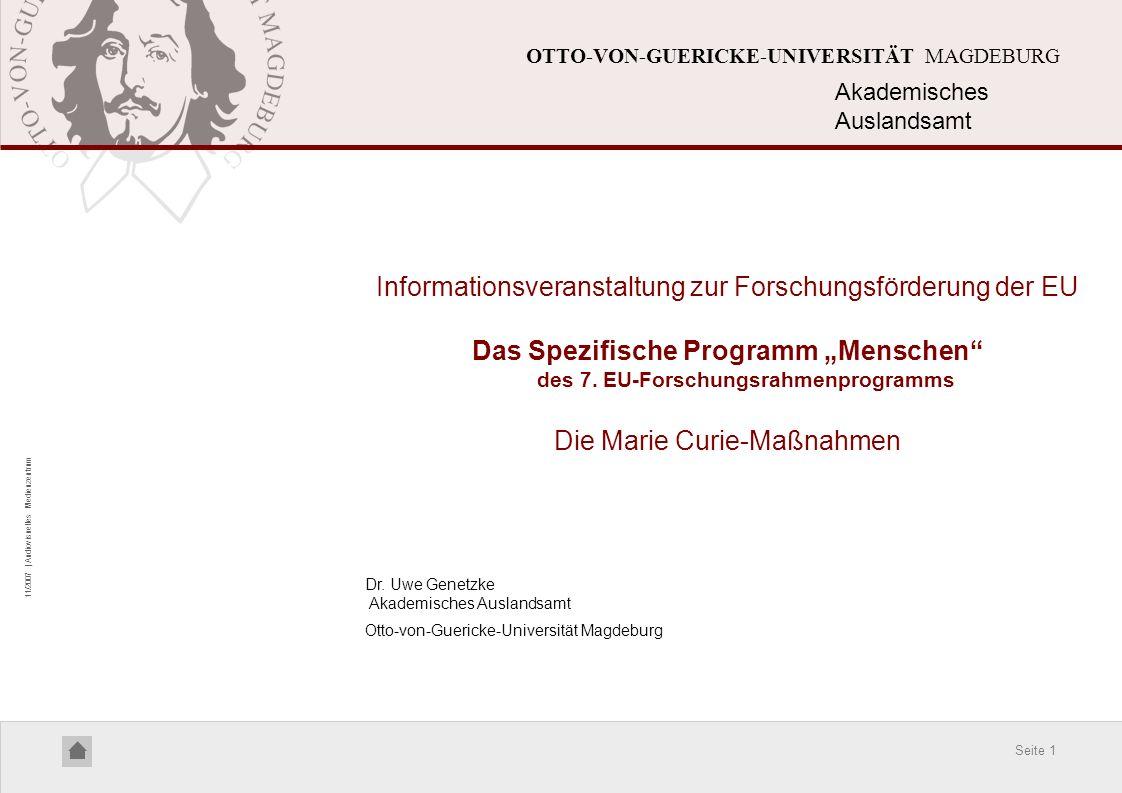 Informationsveranstaltung zur Forschungsförderung der EU