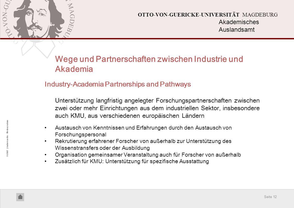 Wege und Partnerschaften zwischen Industrie und Akademia