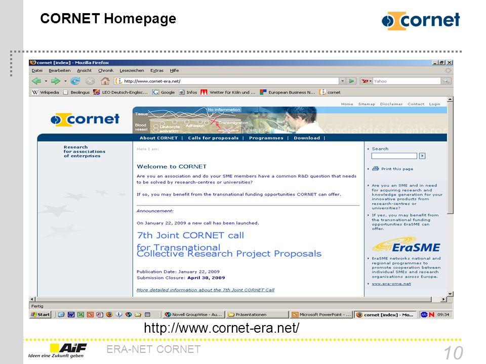 CORNET Homepage http://www.cornet-era.net/