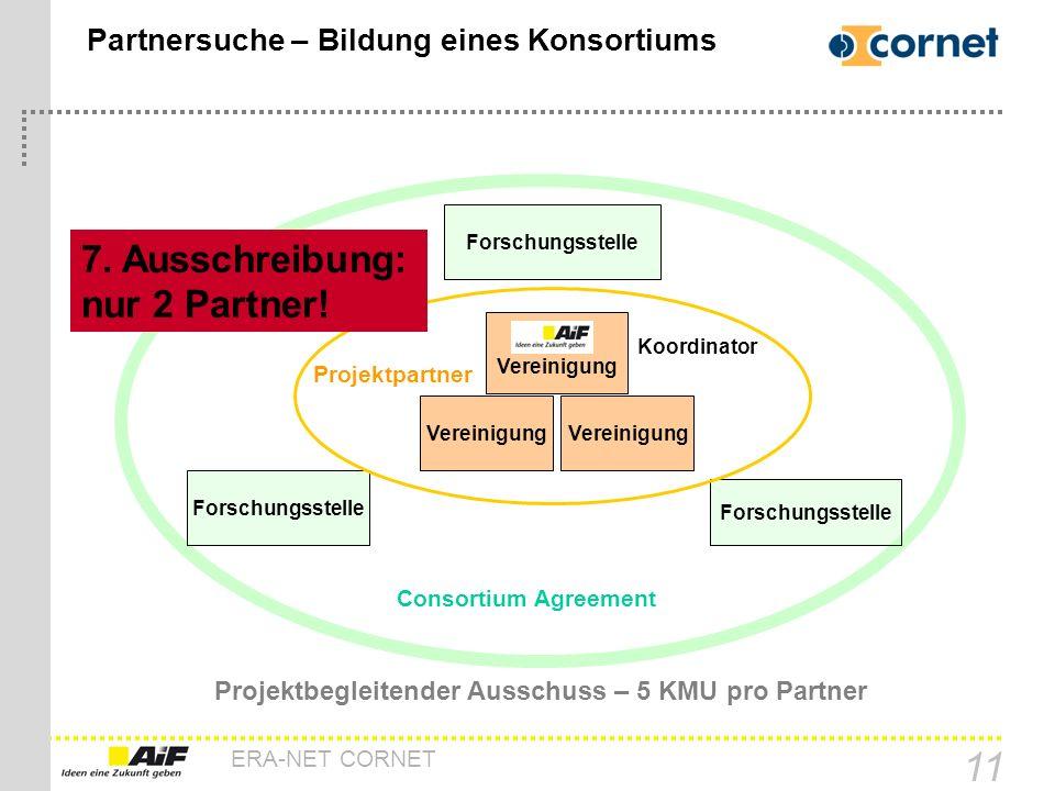 Partnersuche – Bildung eines Konsortiums