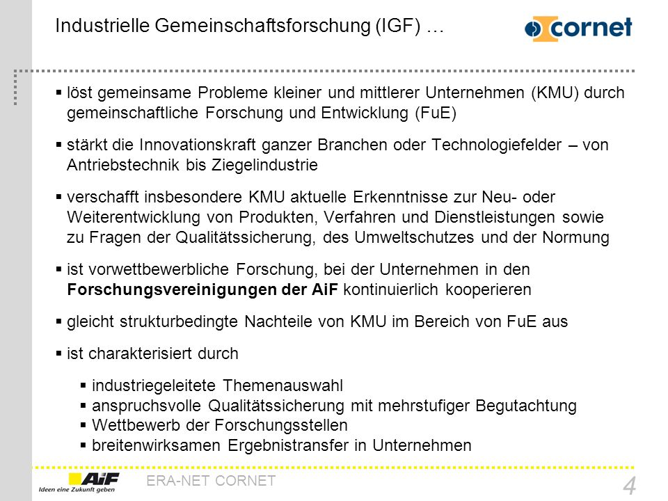 Industrielle Gemeinschaftsforschung (IGF) …
