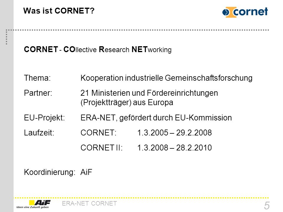 Was ist CORNET CORNET - COllective Research NETworking