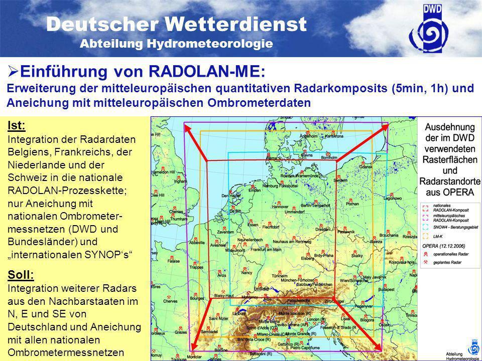 Einführung von RADOLAN-ME: