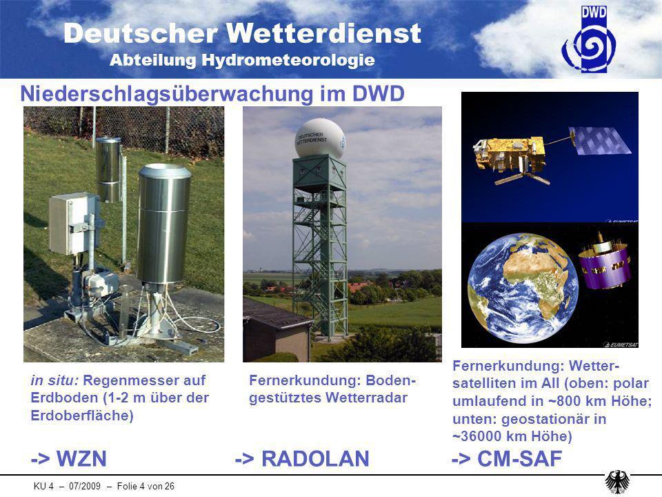 Niederschlagsüberwachung im DWD