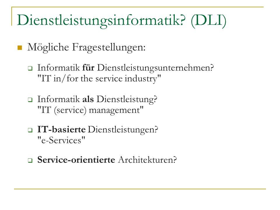 Dienstleistungsinformatik (DLI)