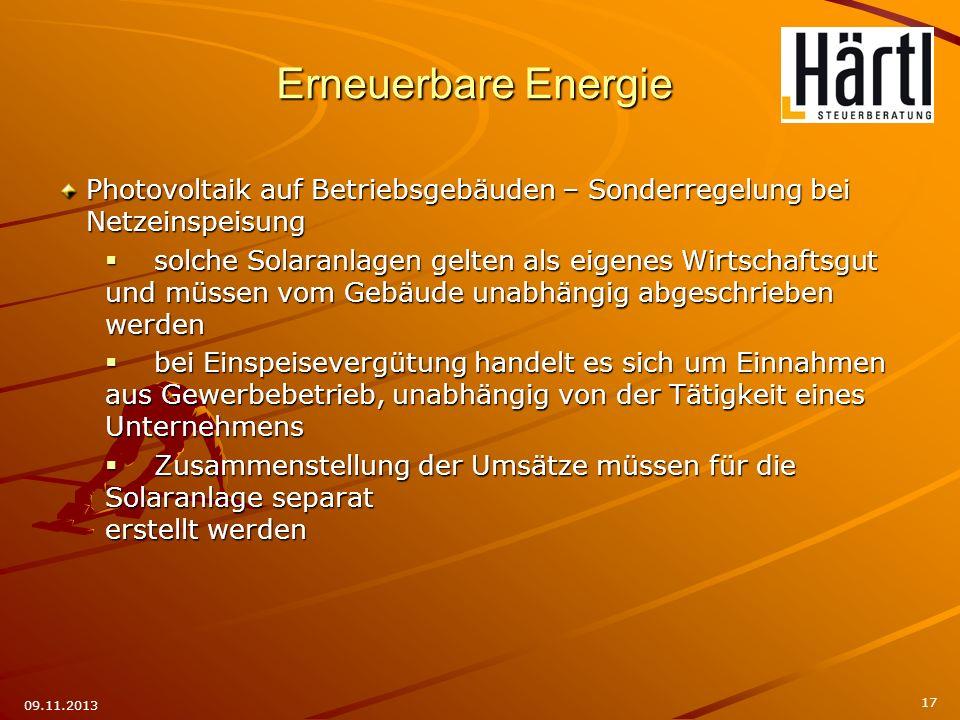 Erneuerbare Energie Photovoltaik auf Betriebsgebäuden – Sonderregelung bei Netzeinspeisung.