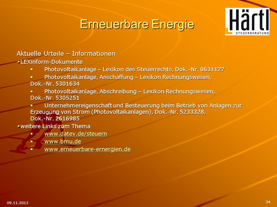 Erneuerbare Energie Aktuelle Urteile – Informationen
