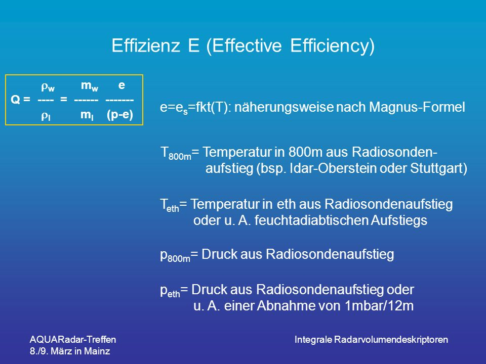 Effizienz E (Effective Efficiency)