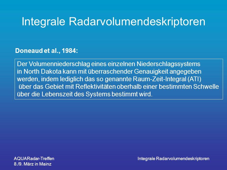 Integrale Radarvolumendeskriptoren
