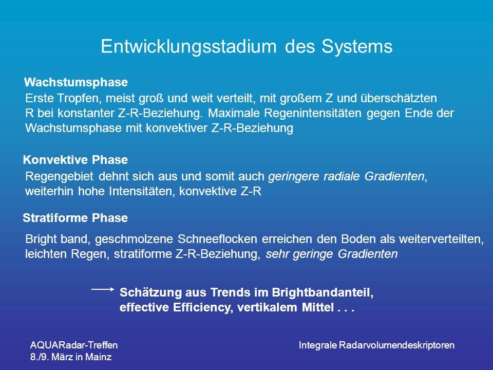 Entwicklungsstadium des Systems
