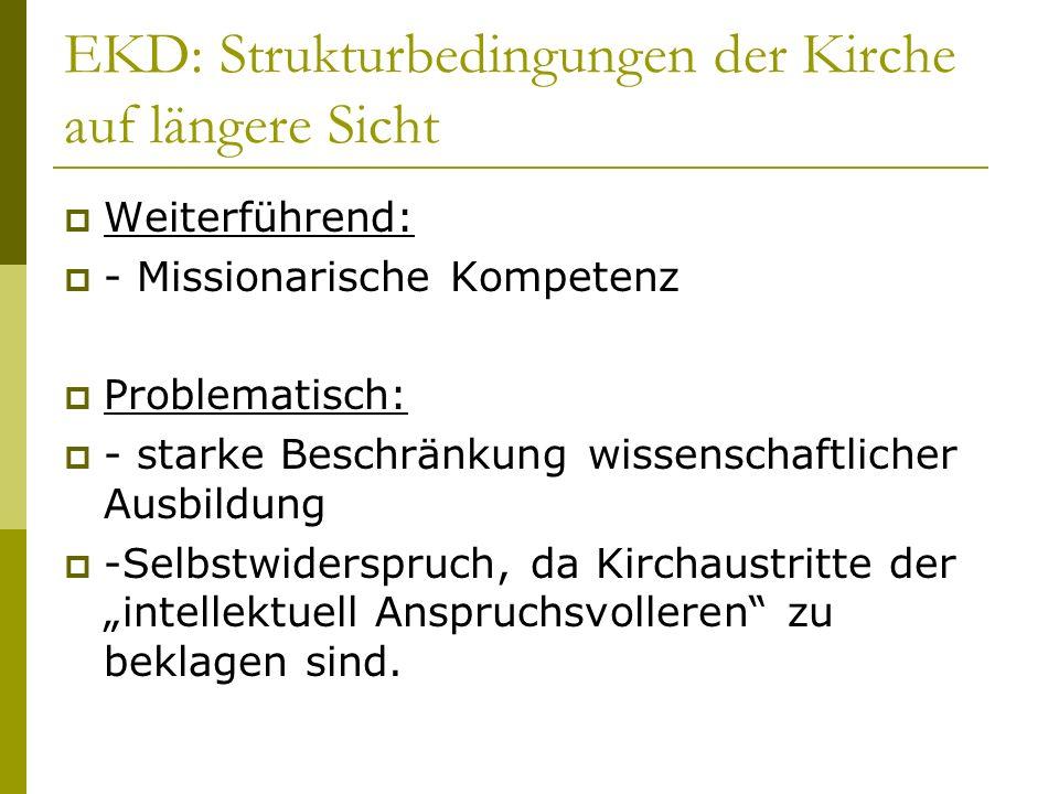 EKD: Strukturbedingungen der Kirche auf längere Sicht