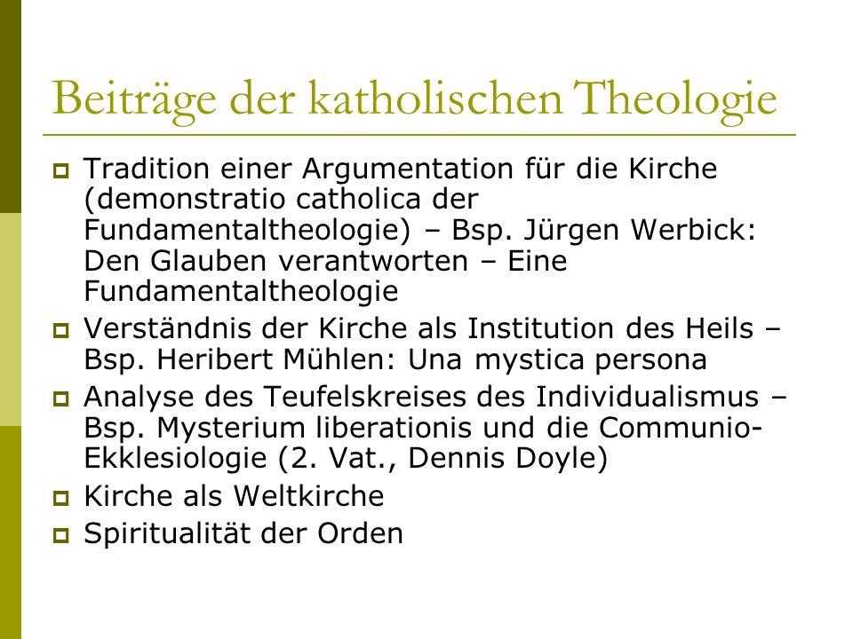 Beiträge der katholischen Theologie