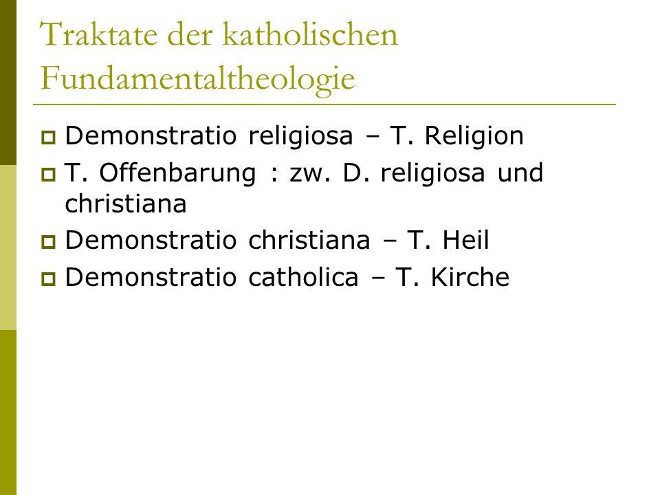 Traktate der katholischen Fundamentaltheologie