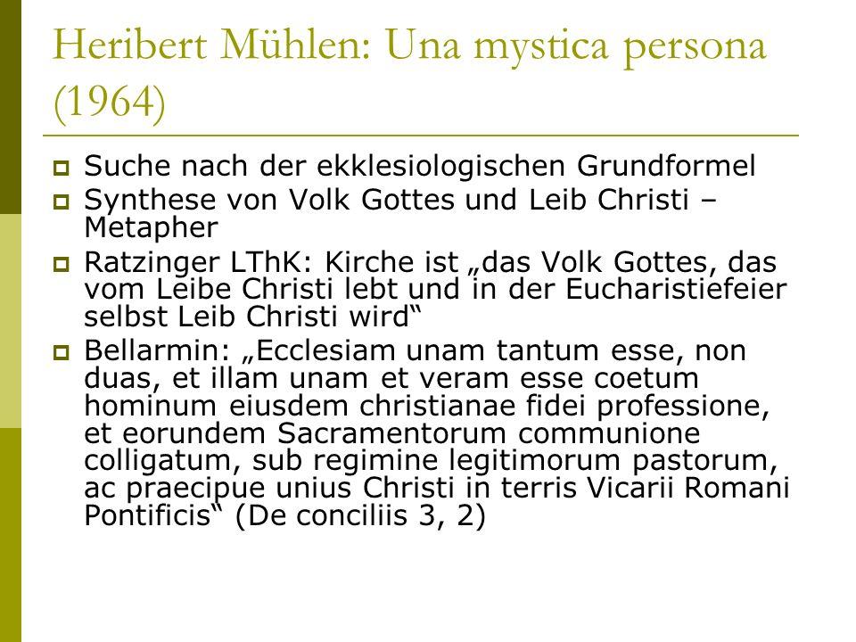 Heribert Mühlen: Una mystica persona (1964)