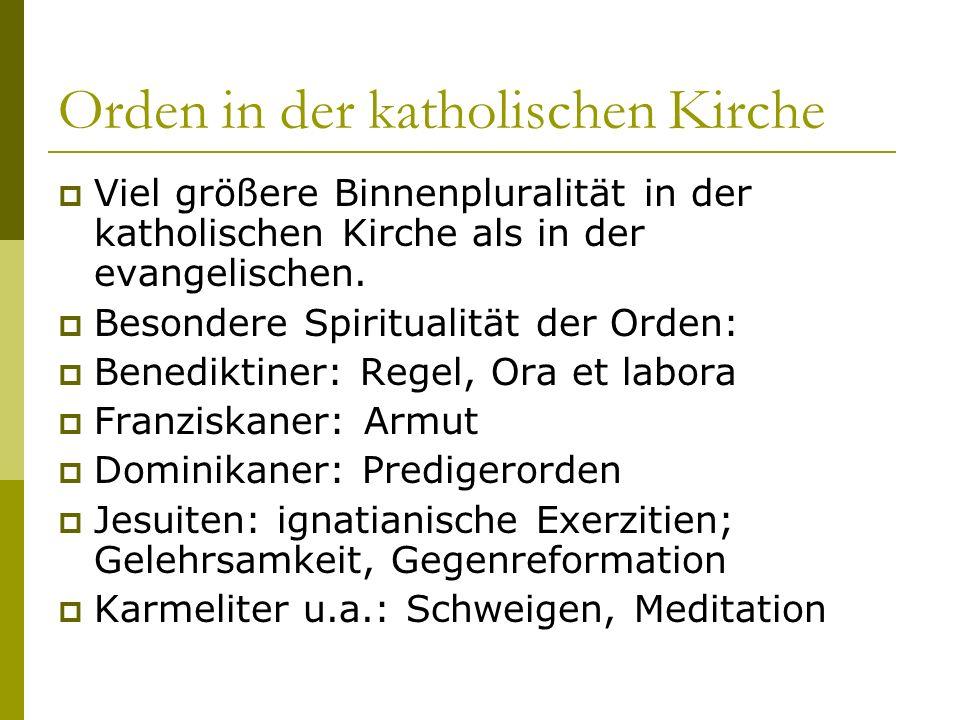Orden in der katholischen Kirche