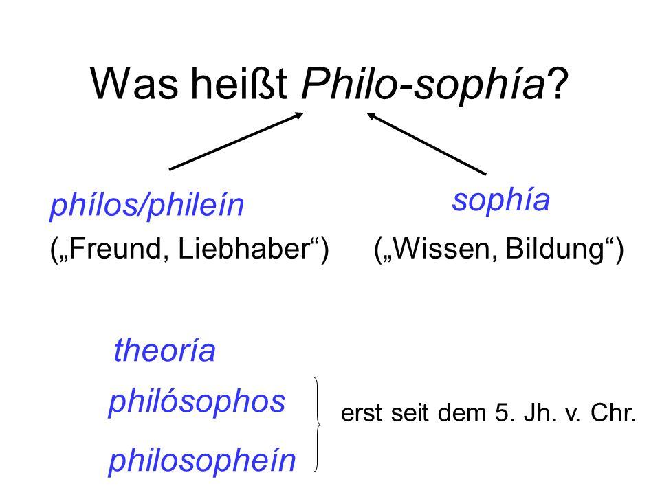 Was heißt Philo-sophía