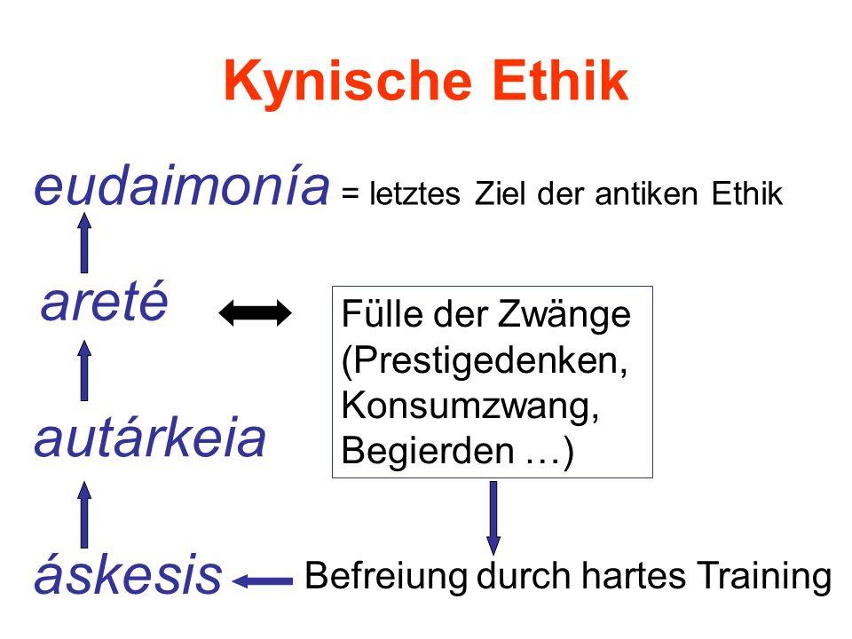 eudaimonía = letztes Ziel der antiken Ethik
