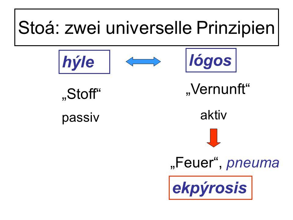 Stoá: zwei universelle Prinzipien