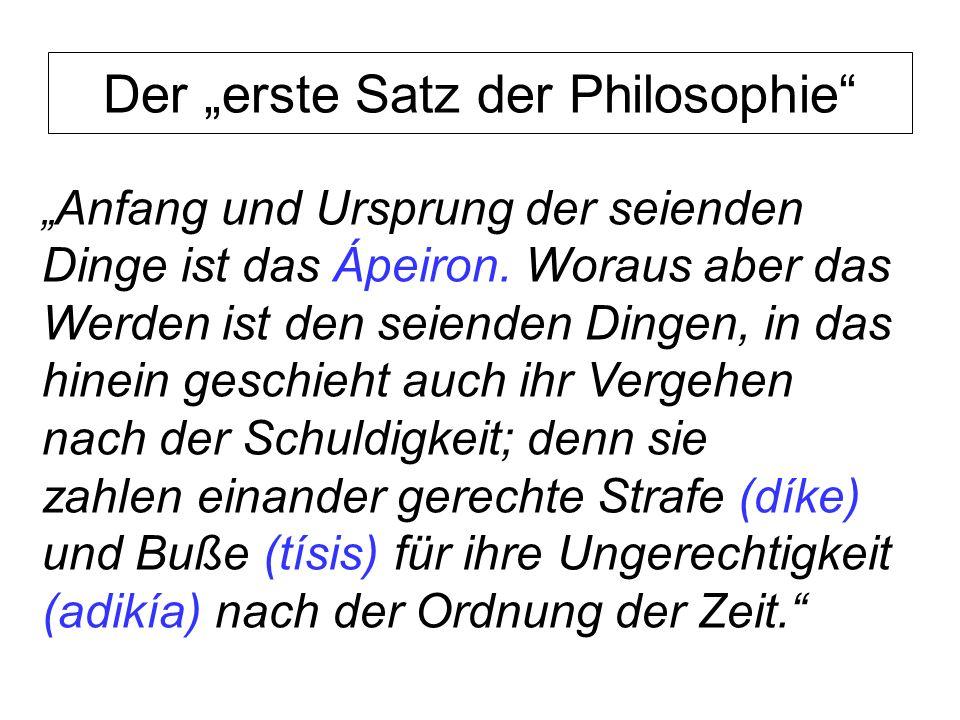 """Der """"erste Satz der Philosophie"""