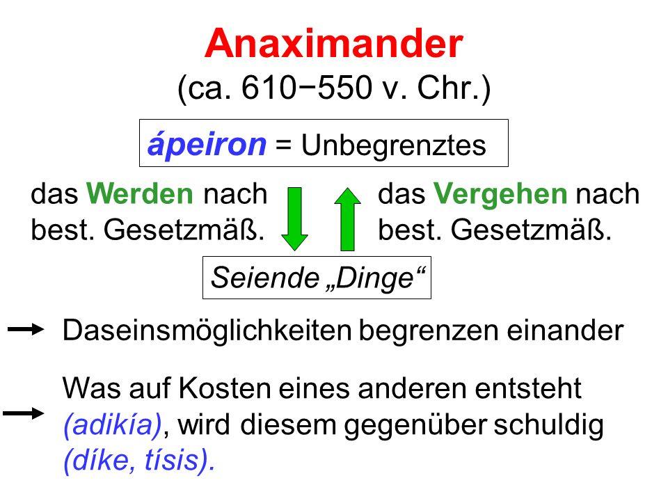 Anaximander (ca. 610−550 v. Chr.)