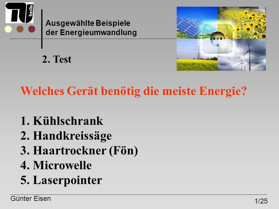 Welches Gerät benötig die meiste Energie Kühlschrank Handkreissäge