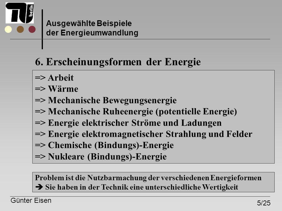6. Erscheinungsformen der Energie