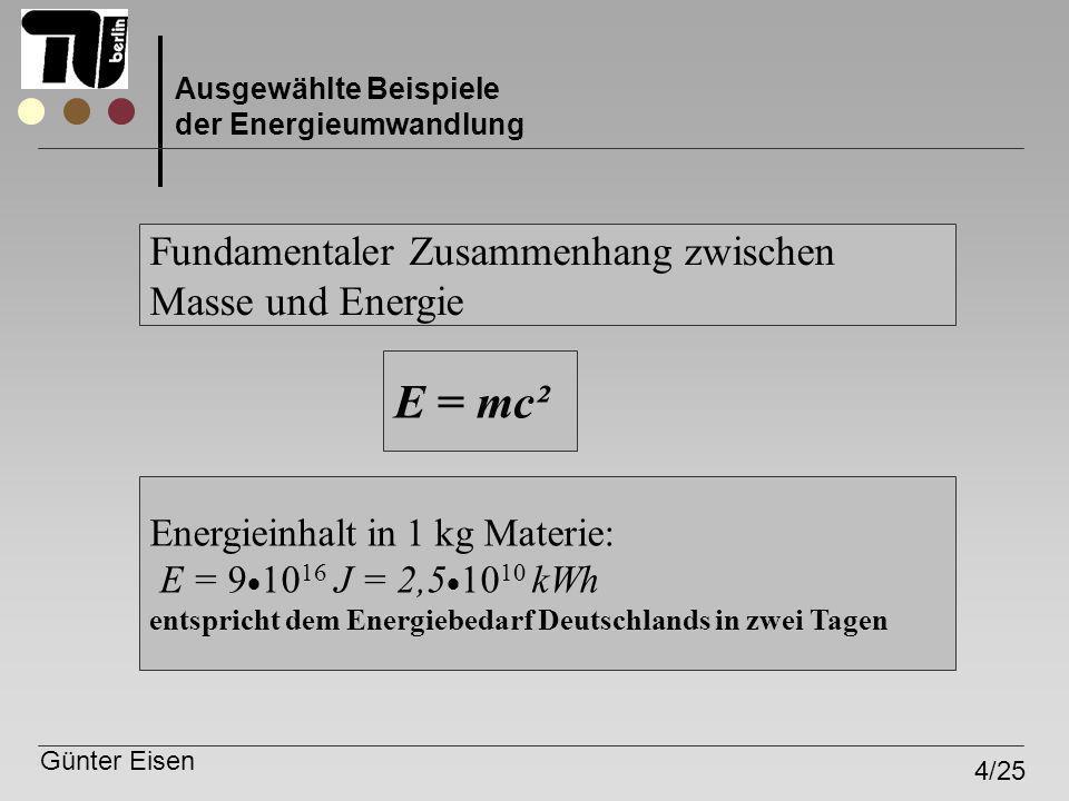 E = mc² Fundamentaler Zusammenhang zwischen Masse und Energie