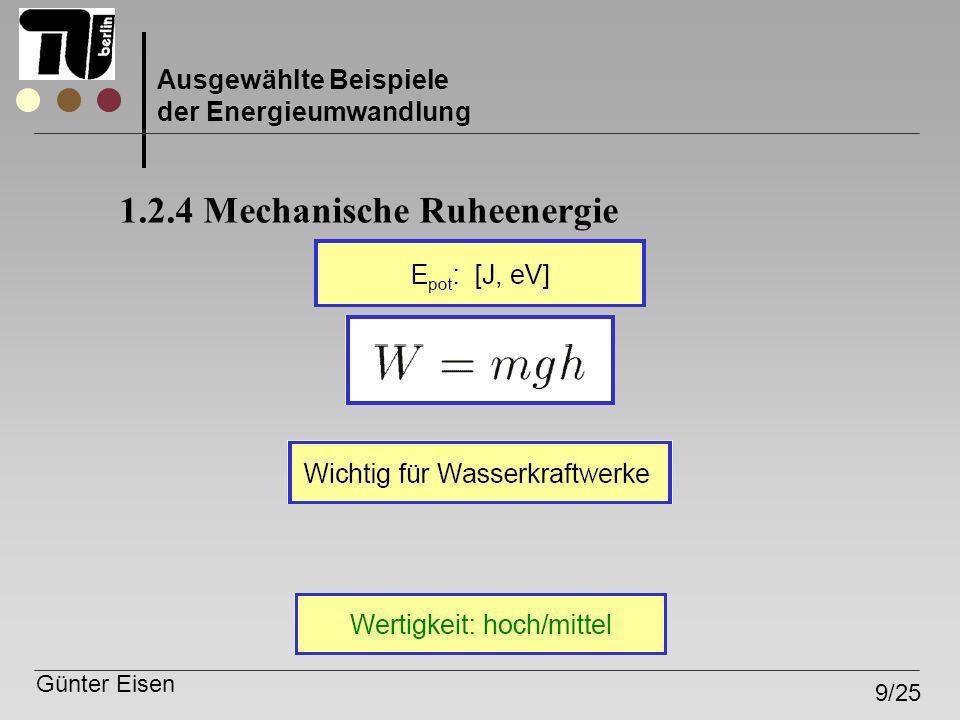 1.2.4 Mechanische Ruheenergie