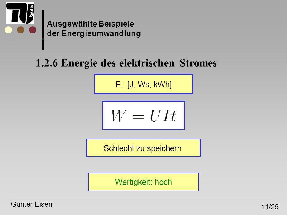 1.2.6 Energie des elektrischen Stromes