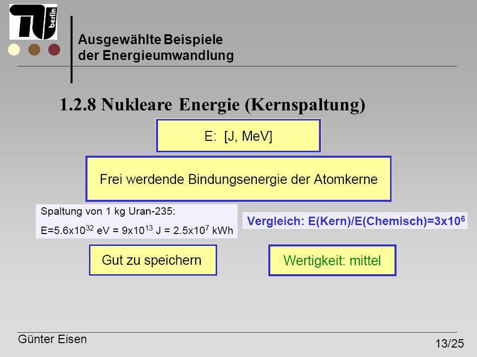 1.2.8 Nukleare Energie (Kernspaltung)