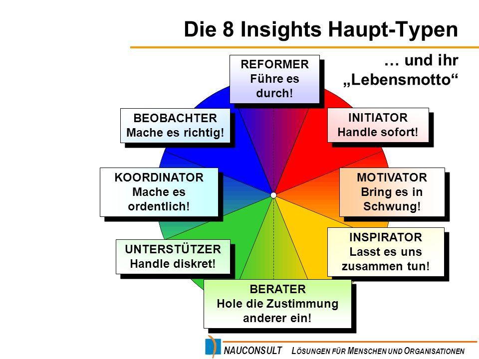 Die 8 Insights Haupt-Typen