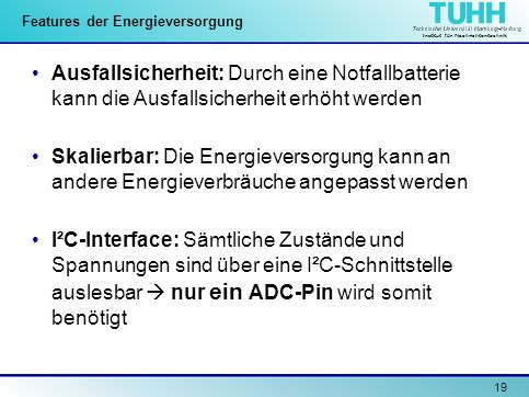 Features der Energieversorgung
