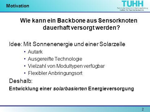 Wie kann ein Backbone aus Sensorknoten dauerhaft versorgt werden