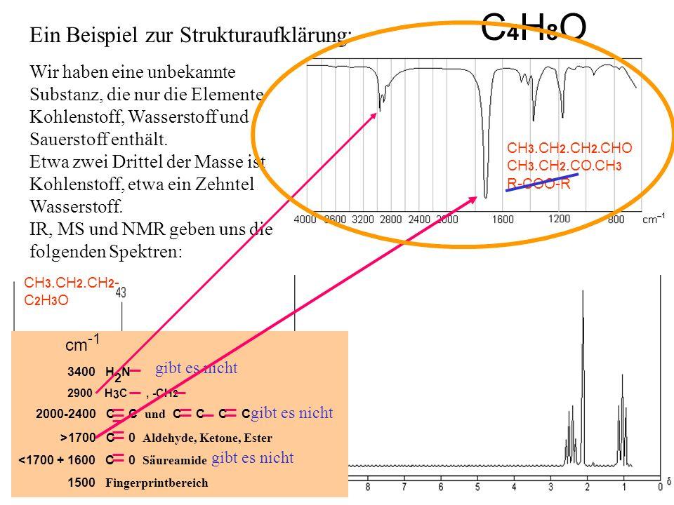 C4H8O Ein Beispiel zur Strukturaufklärung: