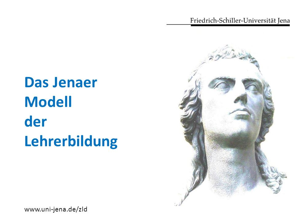 Das Jenaer Modell der Lehrerbildung www.uni-jena.de/zld