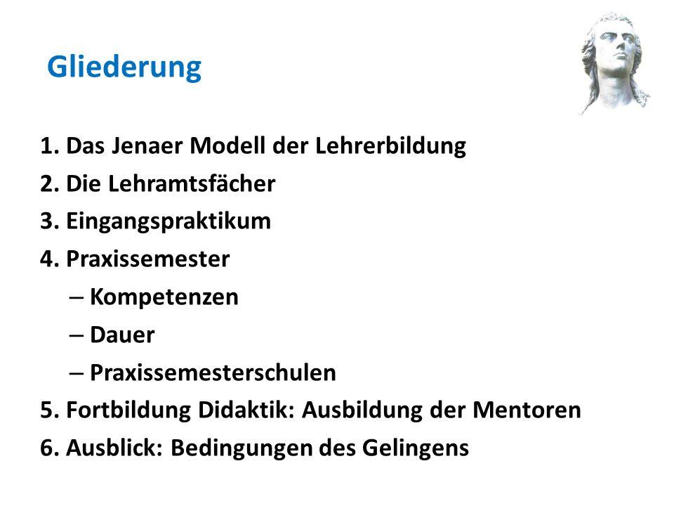 Gliederung 1. Das Jenaer Modell der Lehrerbildung