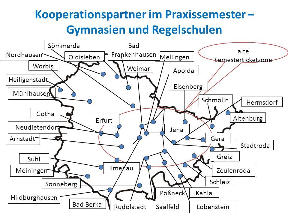 Kooperationspartner im Praxissemester – Gymnasien und Regelschulen